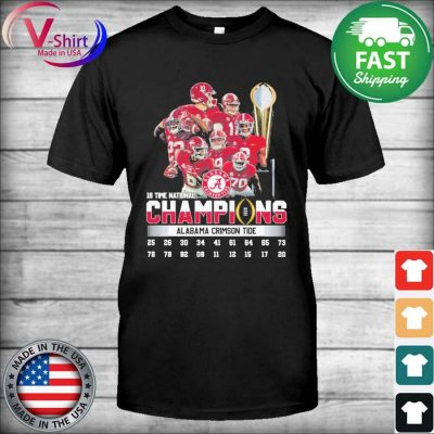 Official 18 time national Champions Alabama Crimson Tide shirt