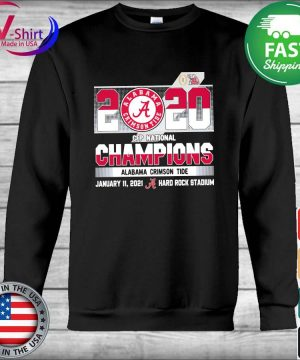 Official 2020 Cfp National Champions Alabama Crimson Tide January 11 2021 hard rock stadium s Hoodie