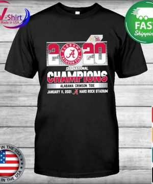 Official 2020 Cfp National Champions Alabama Crimson Tide January 11 2021 hard rock stadium shirt