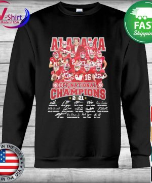 Official Alabama Crimson Tide CFP National Champions 2021 signatures tee s Hoodie