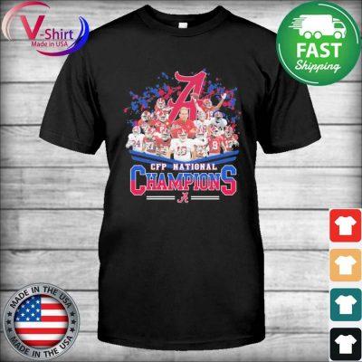Official Alabama Crimson Tide CFP National Champions signatures shirt
