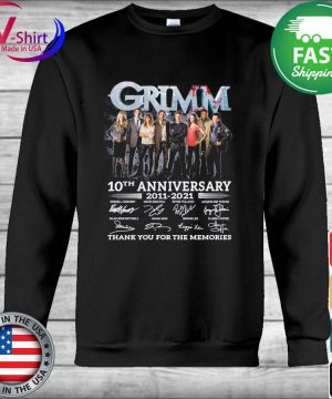 Official Grimm 10th anniversary 2011 2021 thank you for the memories signatures s Hoodie