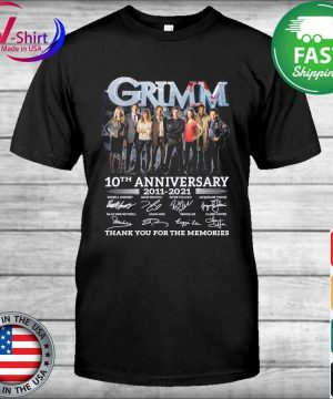 Official Grimm 10th anniversary 2011 2021 thank you for the memories signatures shirt