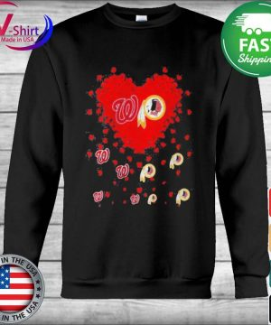 Official Heart Red Washington And Redskins Team Football tee Shirt Hoodie