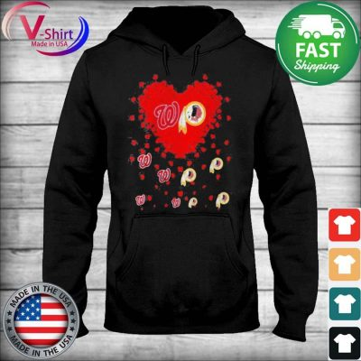 Official Heart Red Washington And Redskins Team Football tee Shirt sweater