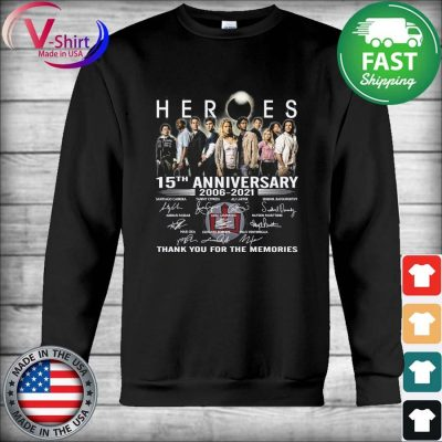 Official Heroes 15th anniversary 2006 2021 thank you for the memories tee signatures s Hoodie