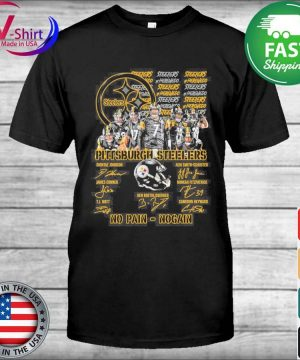 Official Pittsburgh Steelers No Pain No Gain signatures shirt