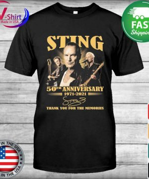 Official Sting 50th anniversary 1971 2021 thank you for the memories signatures shirt