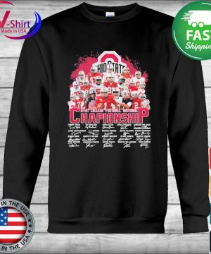 Ohio State Buckeyes 2021 College Football National Championship signatures tee s Hoodie