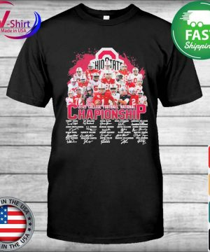 Ohio State Buckeyes 2021 College Football National Championship signatures tee shirt