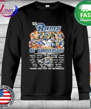 The Los Angeles Rams 85th anniversary 1935 2021 thank you for the memories signatures s Hoodie