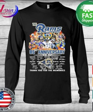 The Los Angeles Rams 85th anniversary 1935 2021 thank you for the memories signatures s Long Sleeve