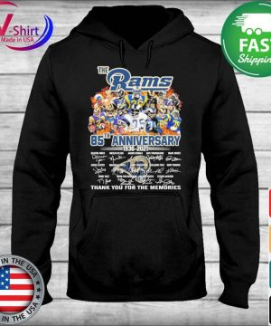 The Los Angeles Rams 85th anniversary 1935 2021 thank you for the memories signatures s sweater