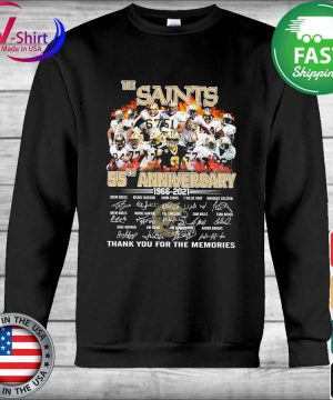The Saints 55th anniversary 2006 2021 thank you for the memories tee signatures s Hoodie