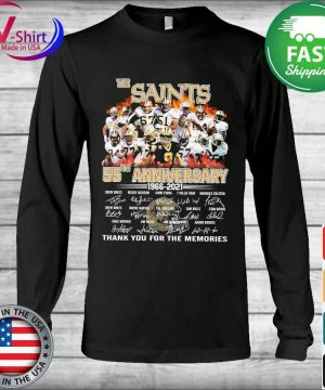 The Saints 55th anniversary 2006 2021 thank you for the memories tee signatures s Long Sleeve