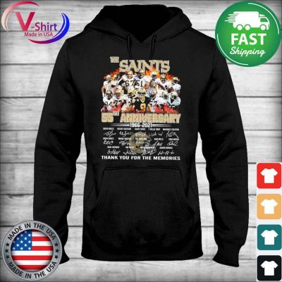 The Saints 55th anniversary 2006 2021 thank you for the memories tee signatures s sweater