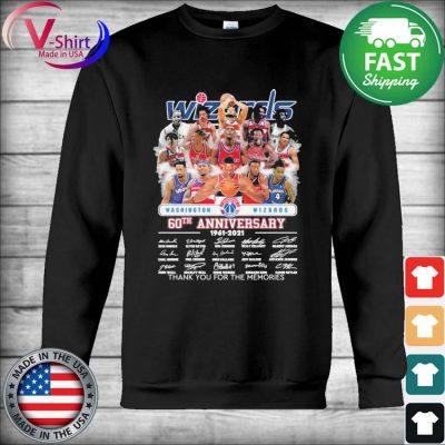 Washington Wizards 60th anniversary 1961 2021 thank you for the memories signatures s Hoodie