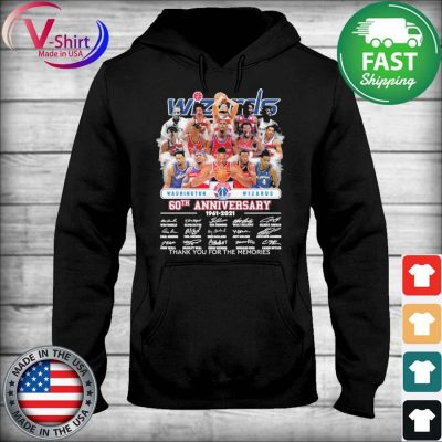 Washington Wizards 60th anniversary 1961 2021 thank you for the memories signatures s sweater
