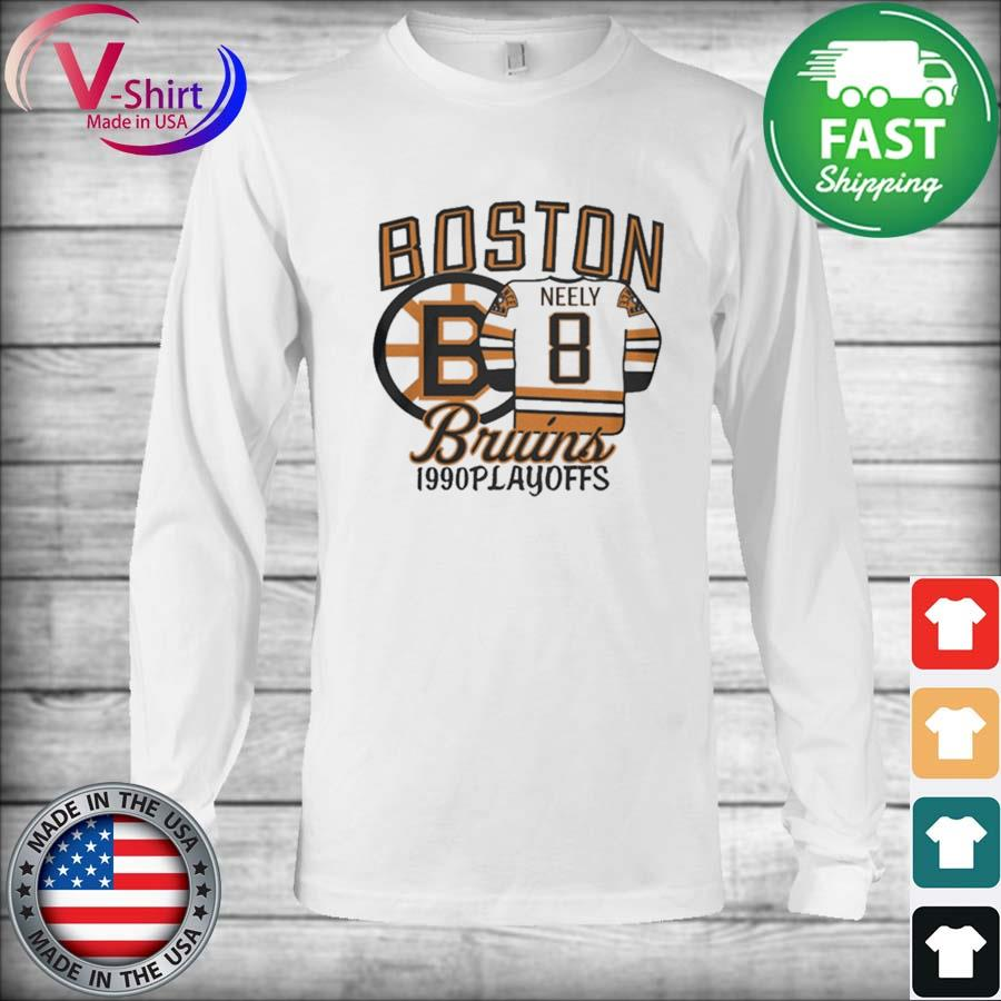 Boston Bruins 1990s Playoffs Neely 8 s Long Sleeve