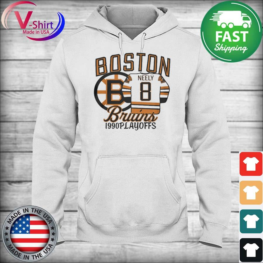 Boston Bruins 1990s Playoffs Neely 8 s hoodie