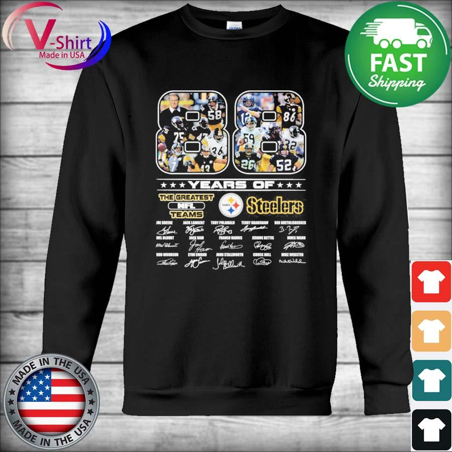 Official 88 years of The Greatest Nfl Teams Pittsburgh Steelers signatures thanks s Hoodie