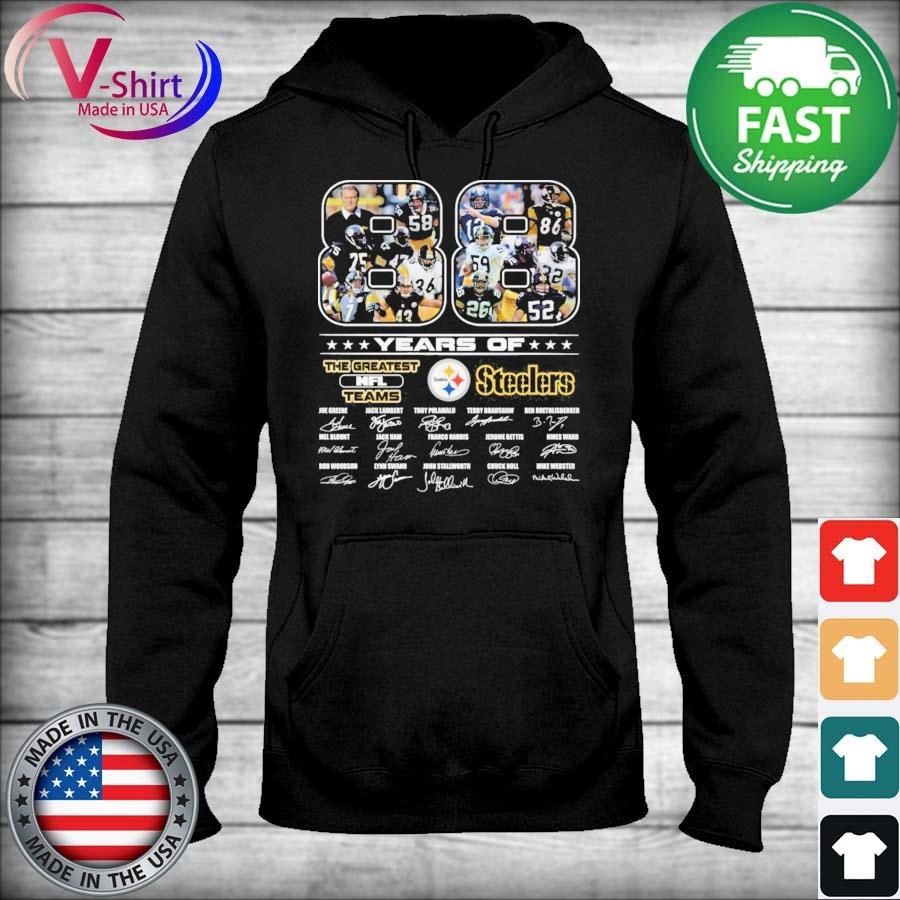 Official 88 years of The Greatest Nfl Teams Pittsburgh Steelers signatures thanks s sweater