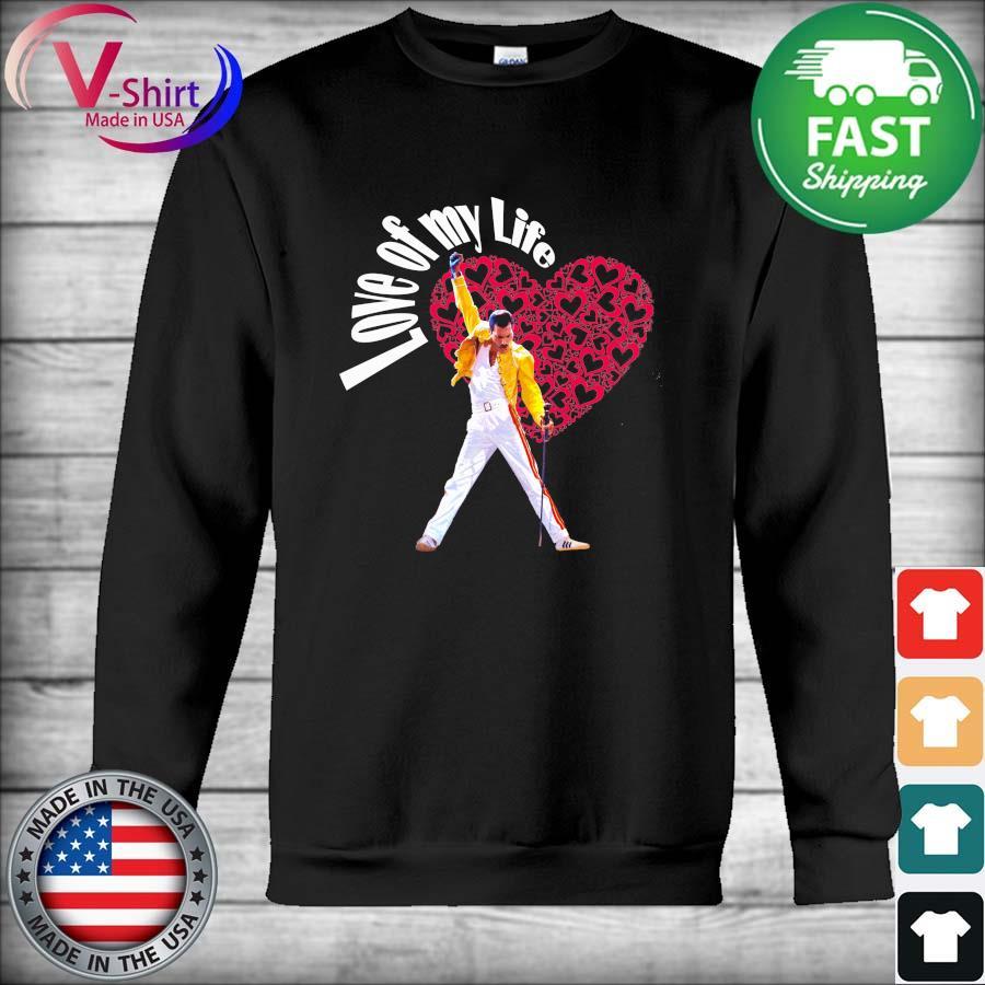 Official Freddie Mercury Love of my life heart 2021 s Hoodie