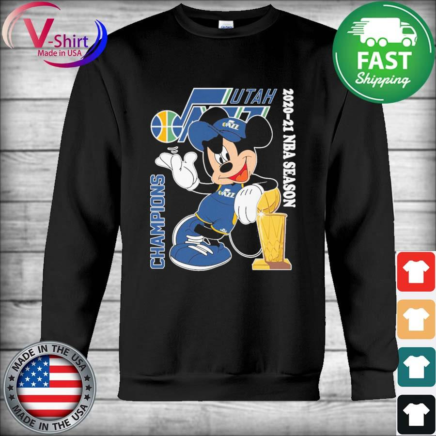 Official Mickey mouse Utah Jazz 2020 2021 Nba Season Champions s Hoodie