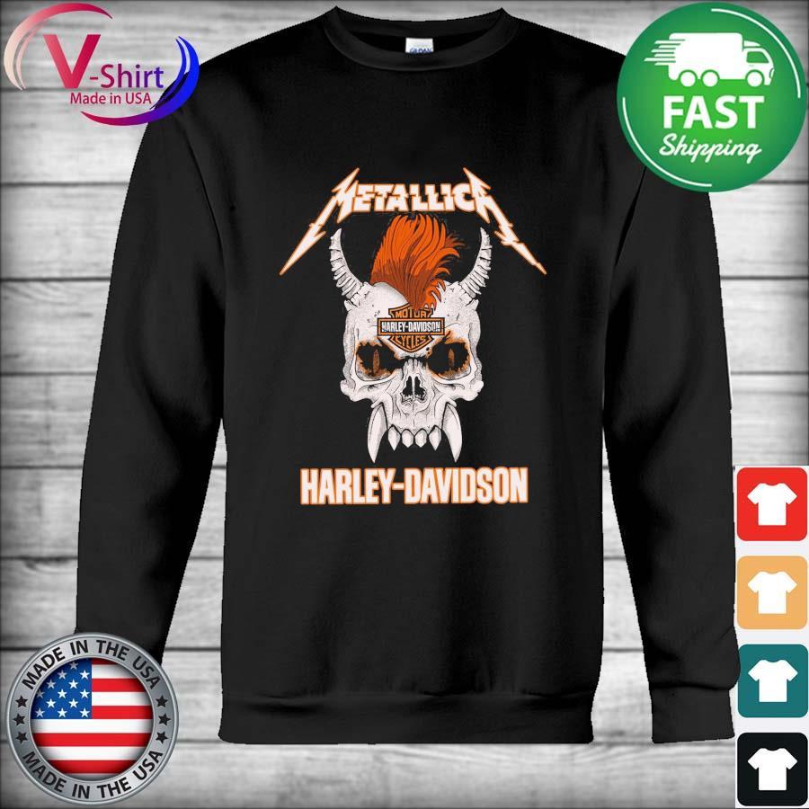 Official Skull Metallica Motor Harley Davidson s Hoodie