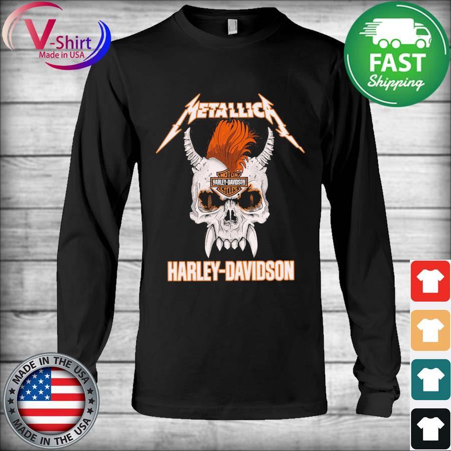 Official Skull Metallica Motor Harley Davidson s Long Sleeve