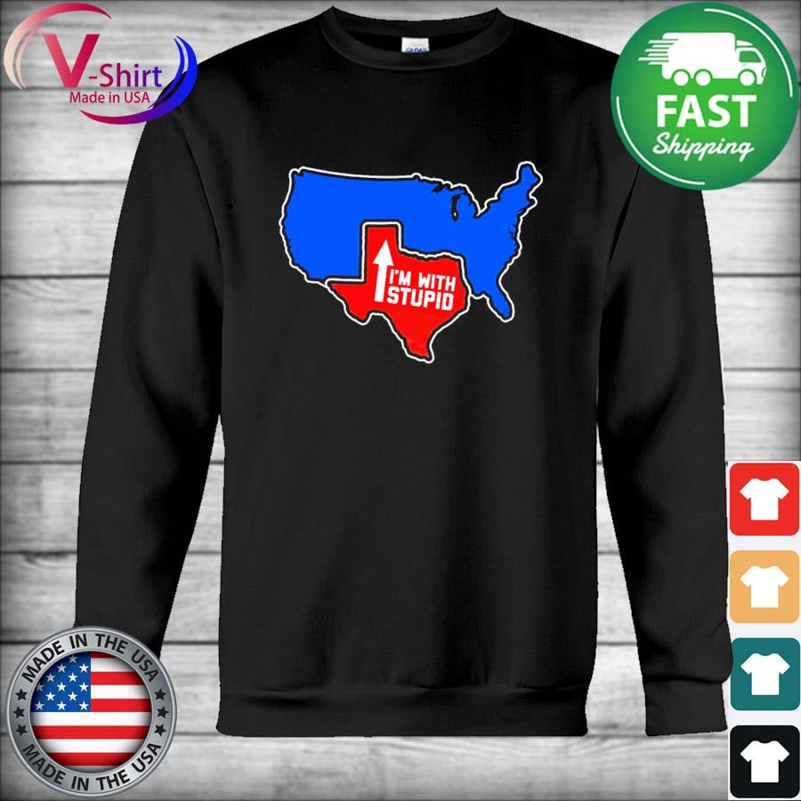 Official Texas Map I'm with Stupid 2021 s Hoodie