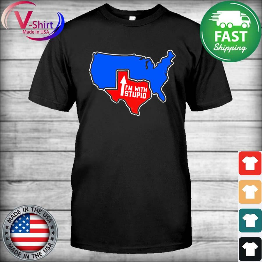 Official Texas Map I'm with Stupid 2021 shirt