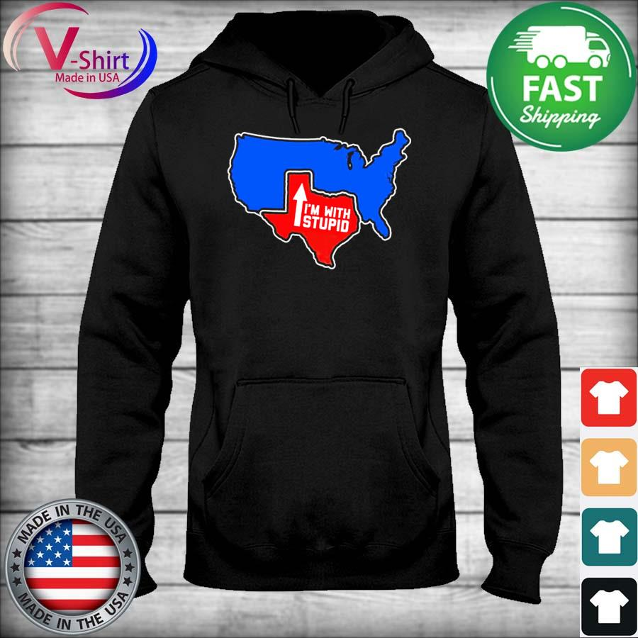 Official Texas Map I'm with Stupid 2021 s sweater